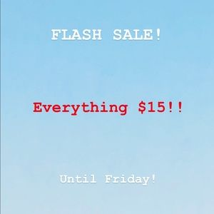 Flash sale! Everything discounted!